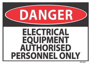 danger electrical equipment authorised personnel