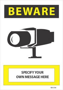 Custom Surveillance Camera Specify Your Own Message