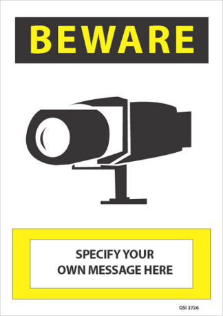 Custom Surveillance Camera Specify Your Own Message