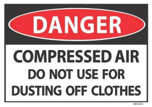 danger compressed air