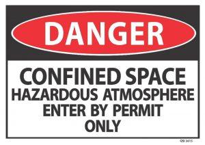 danger confined space hazardous atmosphere