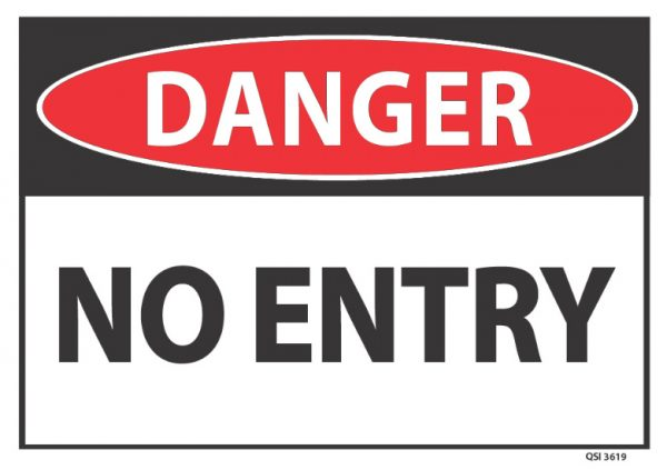 danger no entry