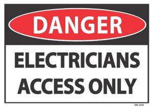 danger electricians access