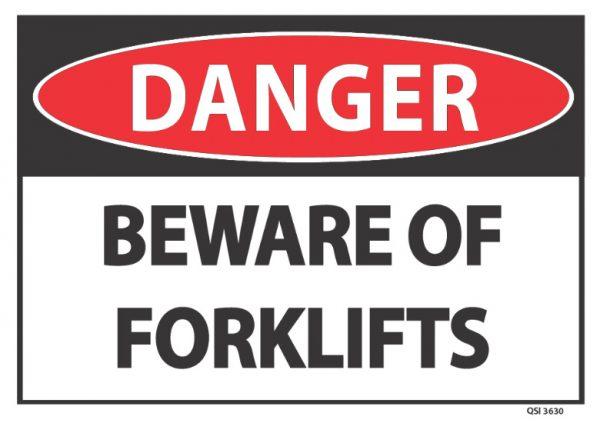 Danger beware forklifts