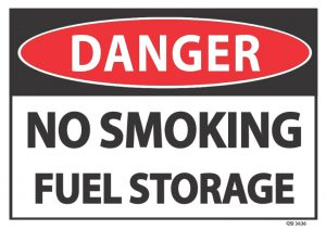 danger no smoking fuel storage