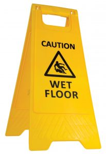 caution wet floor a frame