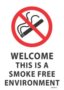 Welcome This Is A Smoke Free Environment