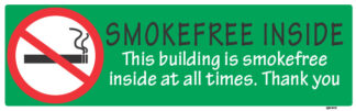 Smoke Free Inside This Building 450mm x 120mm