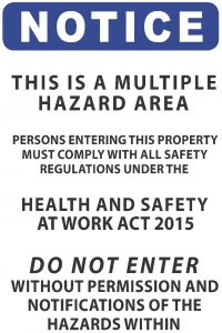 Notice Multiple Hazard Area