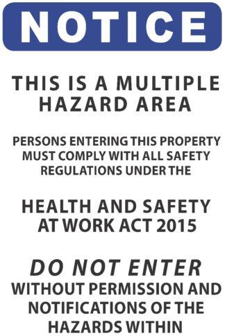 Notice Multiple Hazard Area