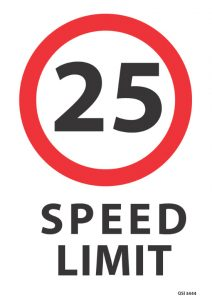 25KMPH Speed Limit Sign