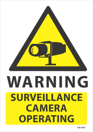 Warning Surveillance Camera Operating