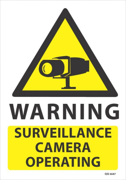 Warning Surveillance Camera Operating