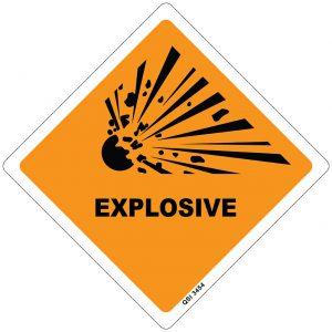 Explosive 250mm x 250mm