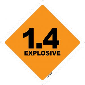 1.4 Explosive 250mm x 250mm
