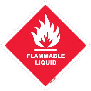 Flammable Liquid 250mm x 250mm
