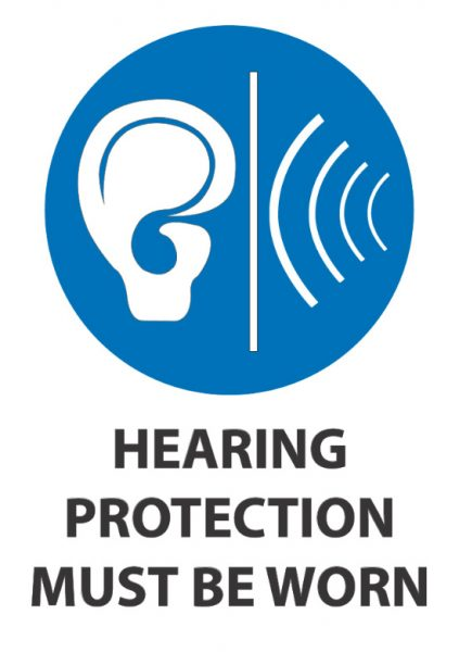 hearing protection must be worn 2