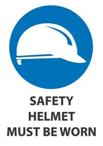 safety helmet must be worn