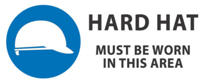 hard hat must be worn in this area