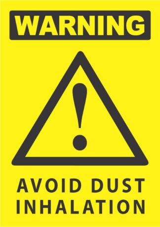 warning avoid dust inhalation