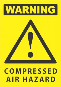 warning compressed air hazard