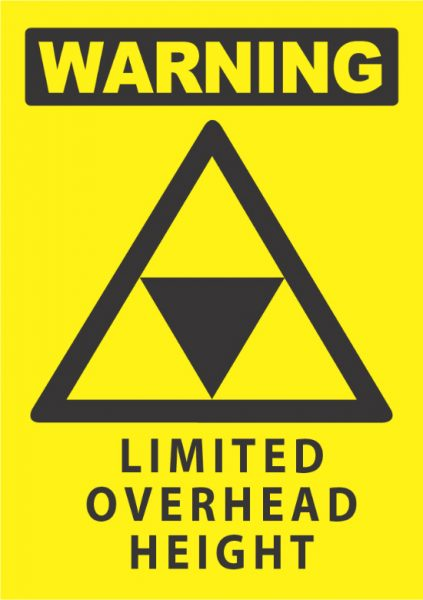 warning limited overhead height