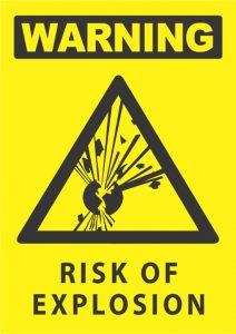 warning risk of explosion