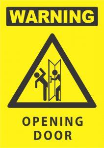 warning opening door