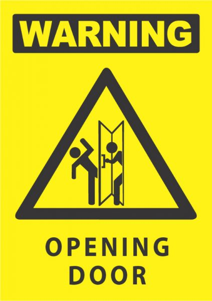 warning opening door