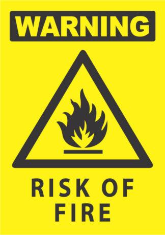 warning risk of fire