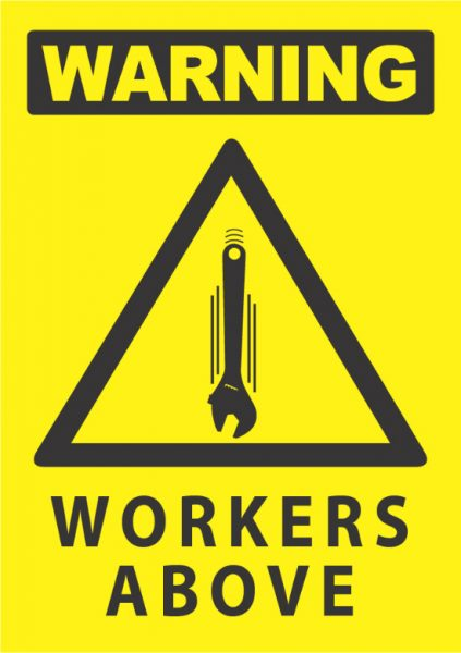 warning workers above