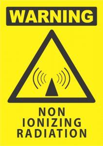 warning non ionizing radiation