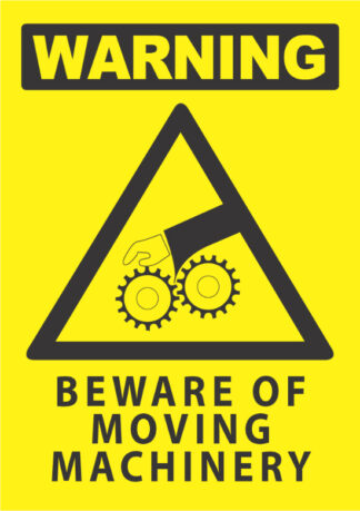 warning beware moving machinery