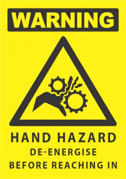 warning hand hazard