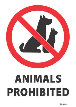 Animals Prohibited