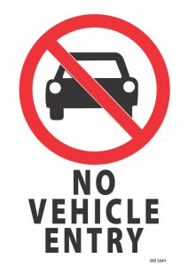 No Vehicle Entry