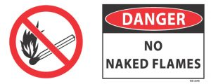 Danger No Naked Flames