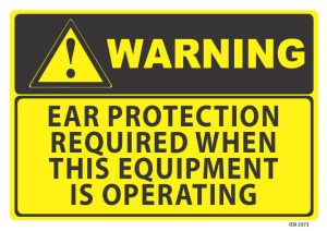 warning ear protection required
