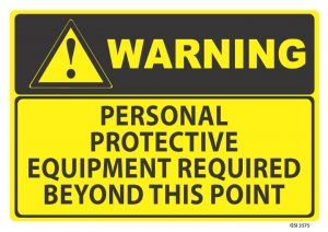 warning personal protective equipment required