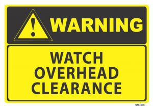 warning watch overhead clearance