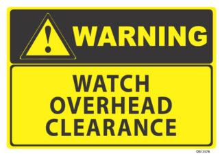 warning watch overhead clearance