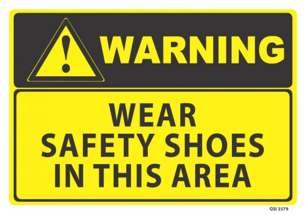warning wear safety shoes