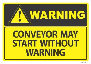 warning conveyor may start without warning