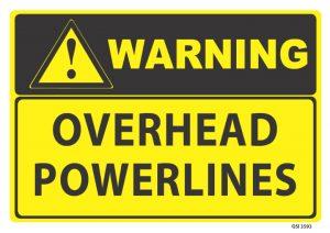 warning overhead powerlines