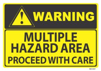 warning multiple hazard area
