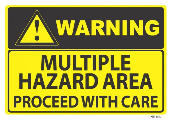 warning multiple hazard area