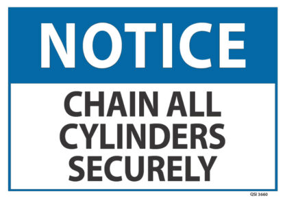 notice chain all cylinders securely