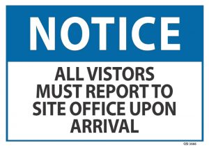 notice visitors must report