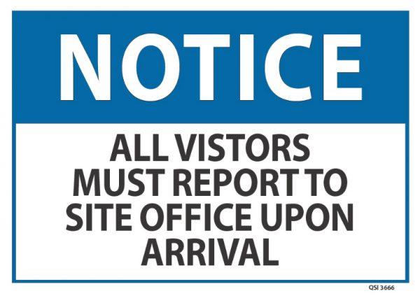 notice visitors must report