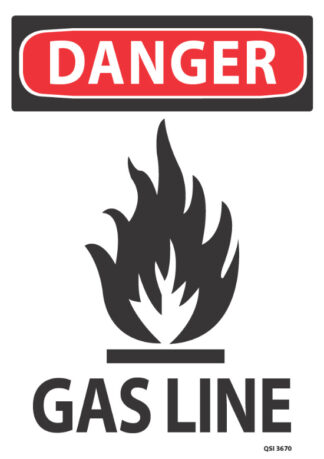 Danger Gas Line